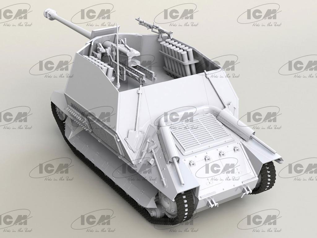 Marder I on FCM 36 base, WWII German Anti-Tank Self-Propelled Gun (Vista 6)