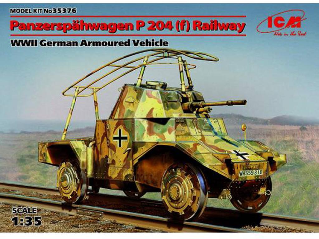 Blindado alemán sobre railes Panzerspähw (Vista 1)