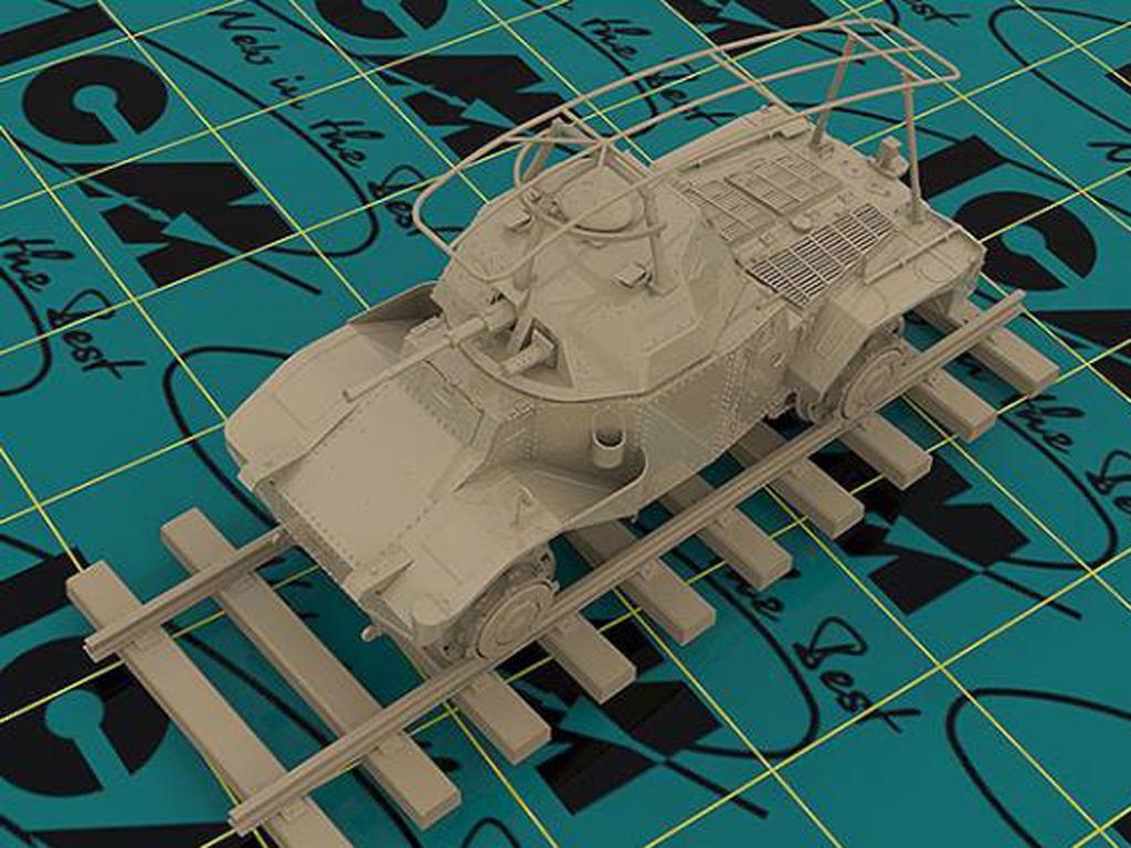 Blindado alemán sobre railes Panzerspähw (Vista 4)