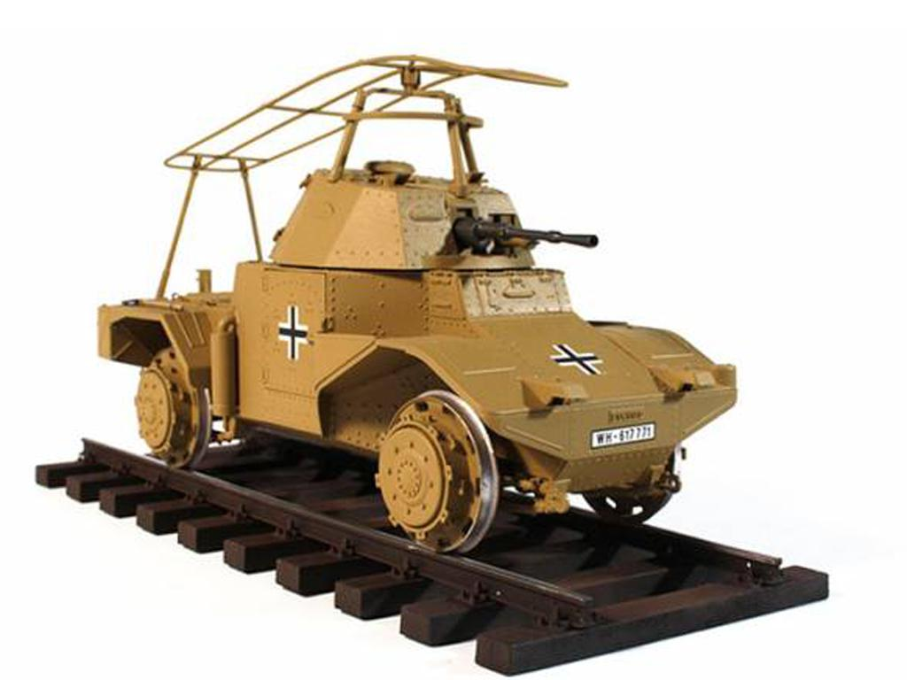 Blindado alemán sobre railes Panzerspähw (Vista 7)