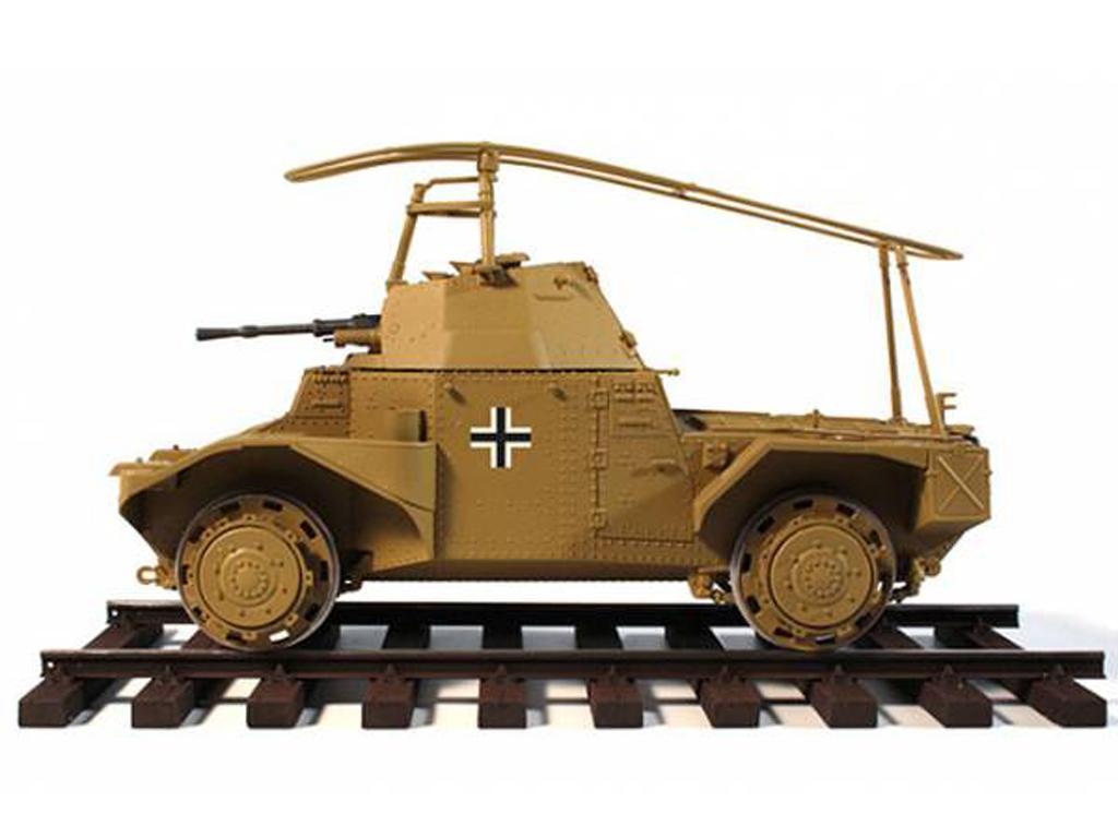 Blindado alemán sobre railes Panzerspähw (Vista 9)