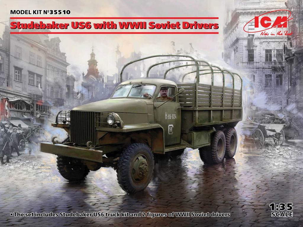 Studebaker US6 con conductores soviéticos (Vista 1)