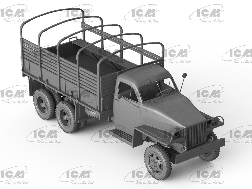 Studebaker US6 con conductores soviéticos (Vista 3)