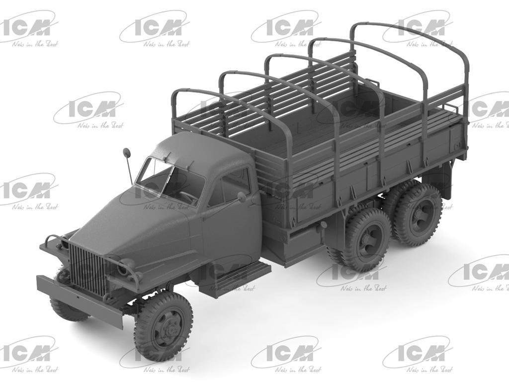 Studebaker US6 con conductores soviéticos (Vista 4)