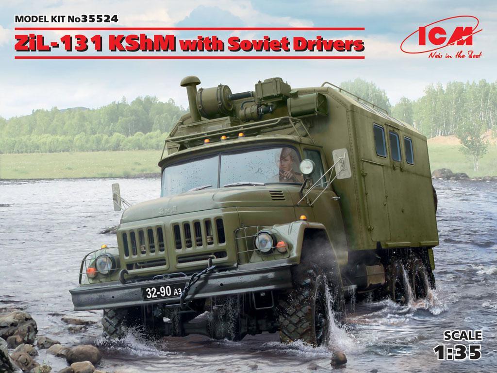 ZiL-131 KShM con conductores soviéticos (Vista 1)