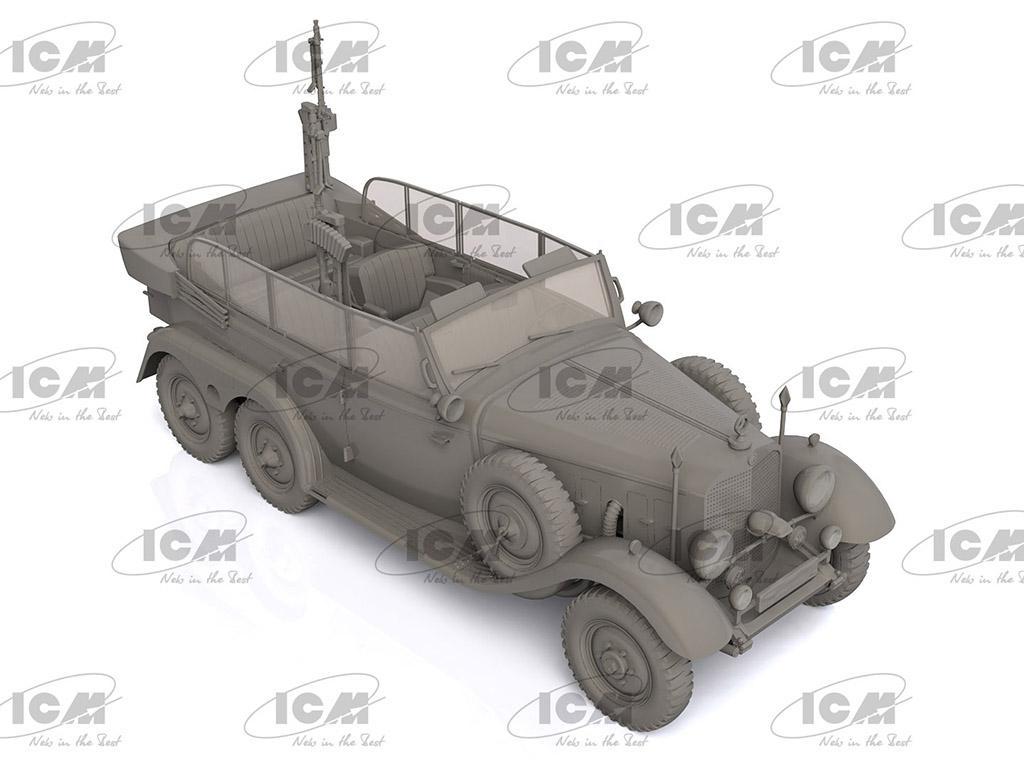 Tipo G4 Partisanenwagen con armamento (Vista 3)