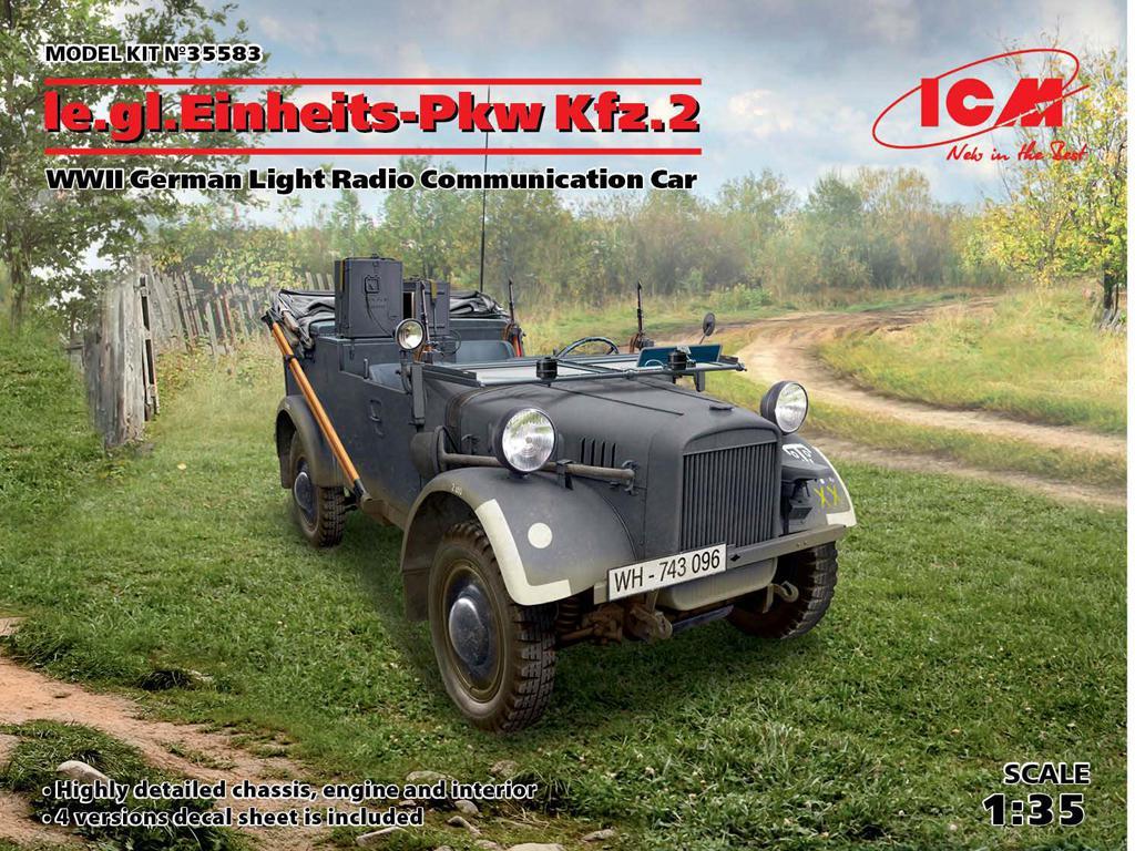 le.gl.Einheitz-Pkw Kfz.2, Radiocomunicador Alemán Ligero (Vista 1)