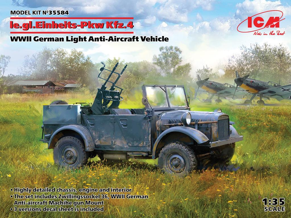 le.gl.Einheitz-Pkw Kfz.4, Vehículo antiaéreo ligero (Vista 1)