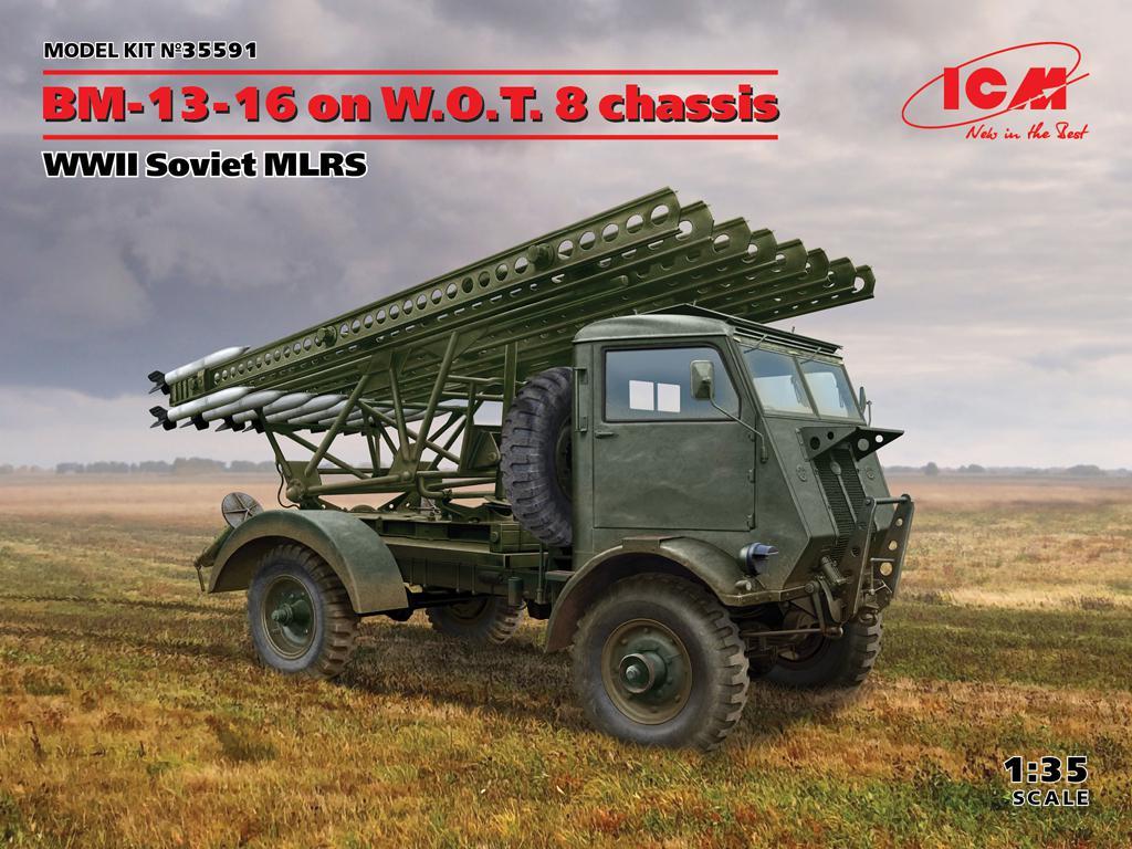 BM-13-16 on W.O.T. 8 chassis, WWII Soviet MLRS (Vista 1)
