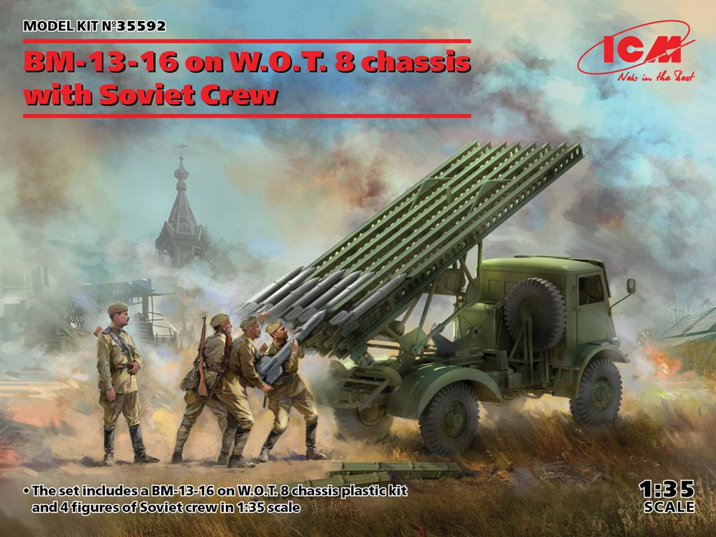 BM-13-16 on W.O.T. 8 chassis with Soviet Crew (Vista 1)