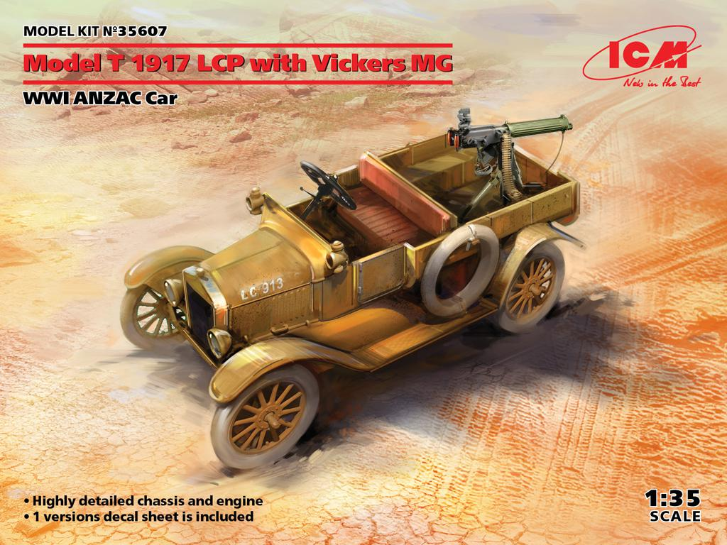 Model T 1917 LCP with Vickers MG, WWI ANZAC Car (Vista 1)