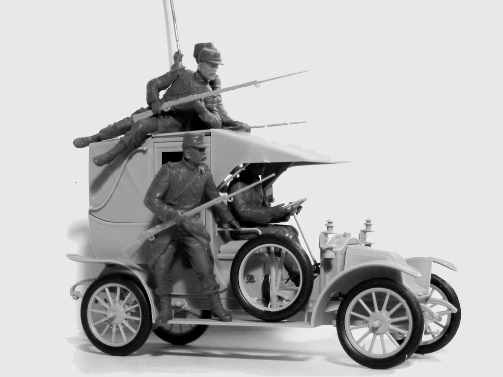 Batalla del Marne 1914 Taxi con Infantería Francesa (Vista 3)