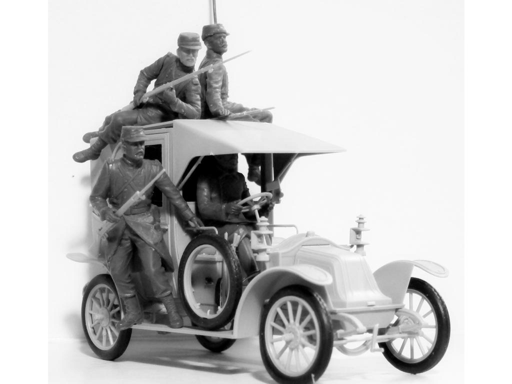 Batalla del Marne 1914 Taxi con Infantería Francesa (Vista 4)