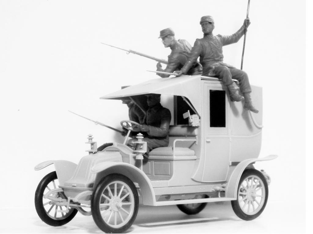 Batalla del Marne 1914 Taxi con Infantería Francesa (Vista 5)