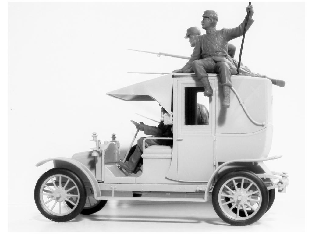 Batalla del Marne 1914 Taxi con Infantería Francesa (Vista 6)