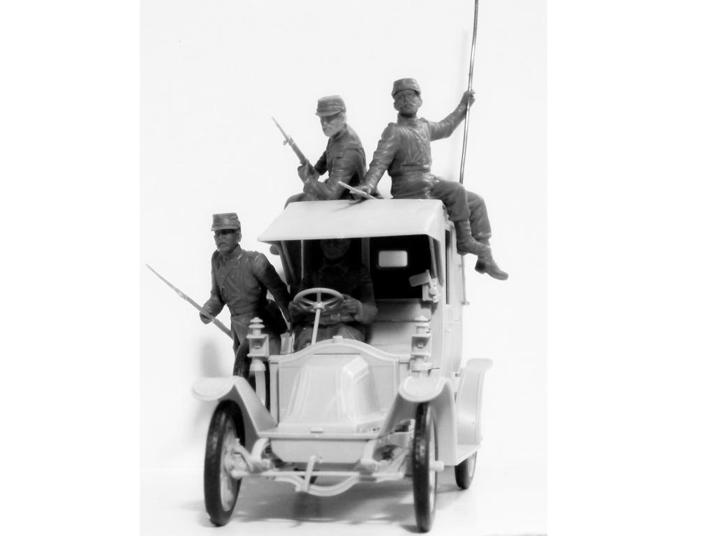 Batalla del Marne 1914 Taxi con Infantería Francesa (Vista 9)