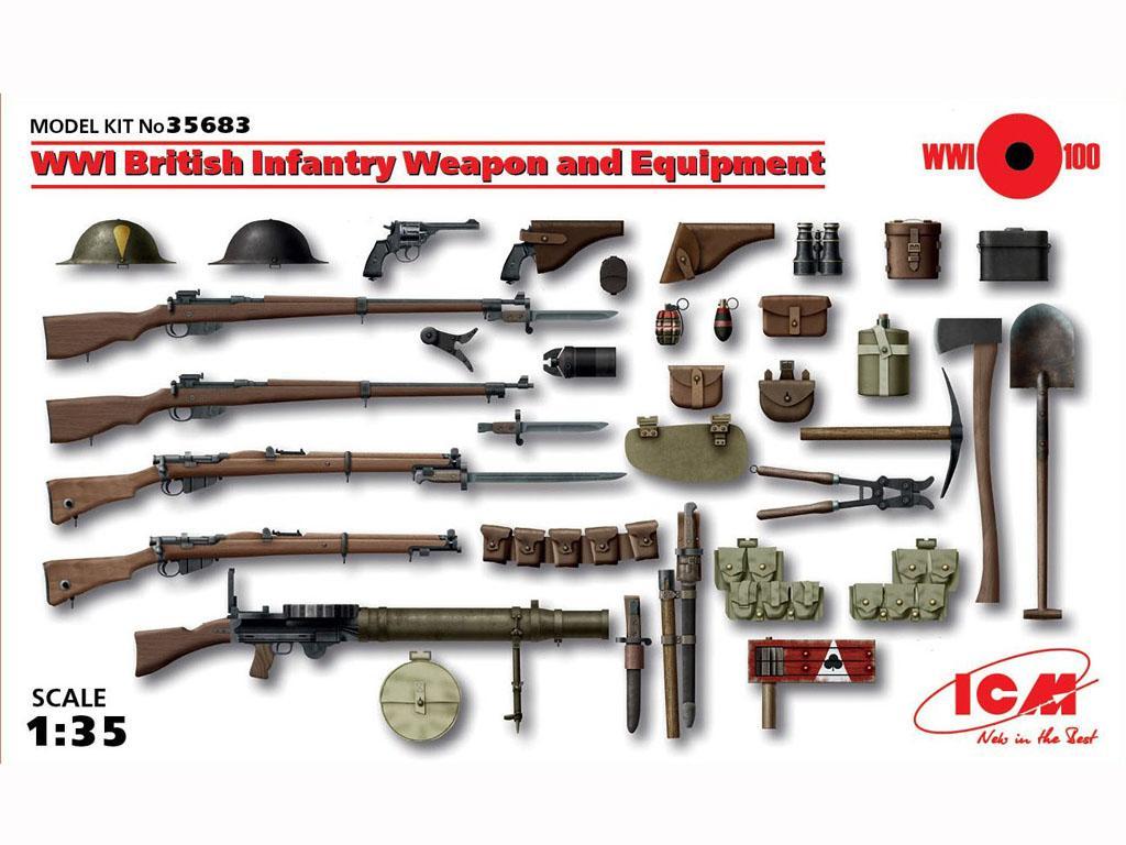 Armamento Infanteria Britanica WWI (Vista 1)