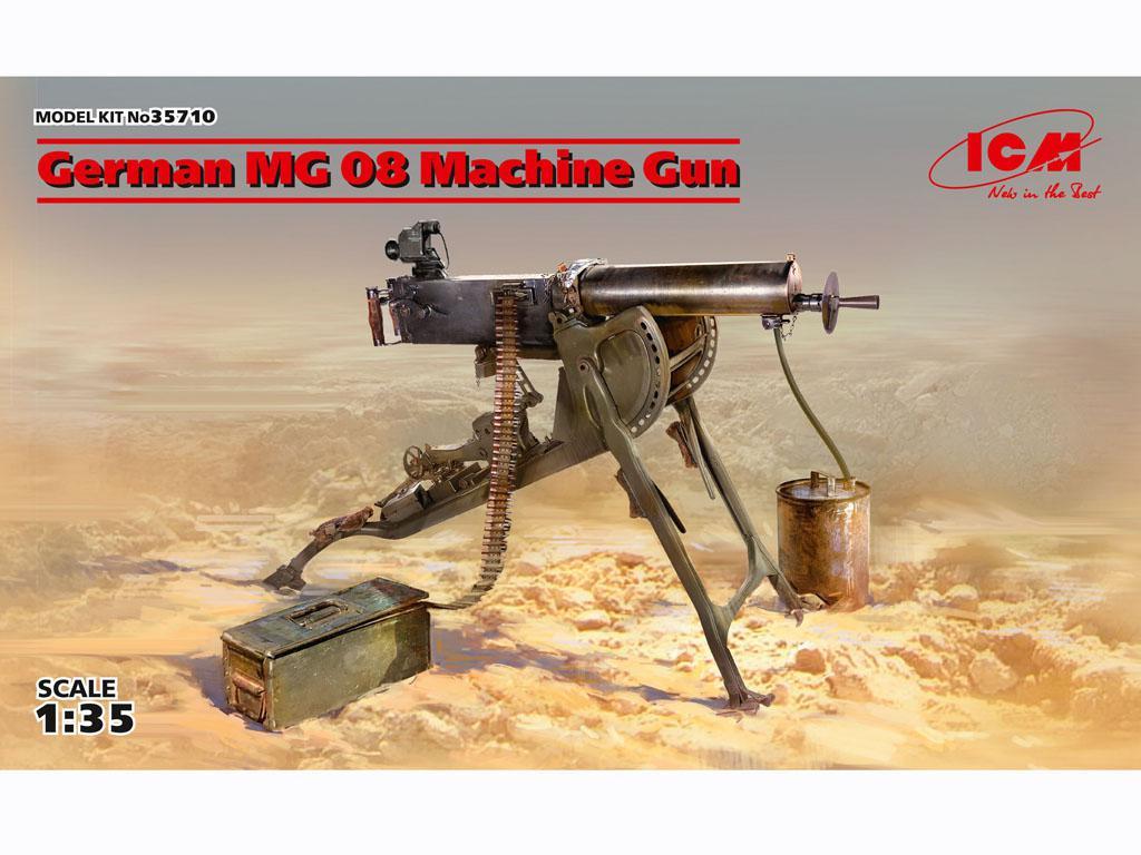 Ametralladora MG08 Alemana (Vista 1)