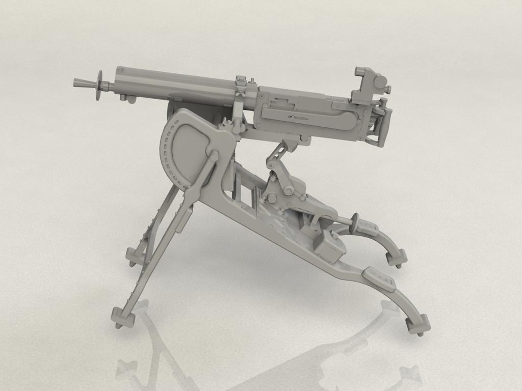 Ametralladora MG08 Alemana (Vista 2)