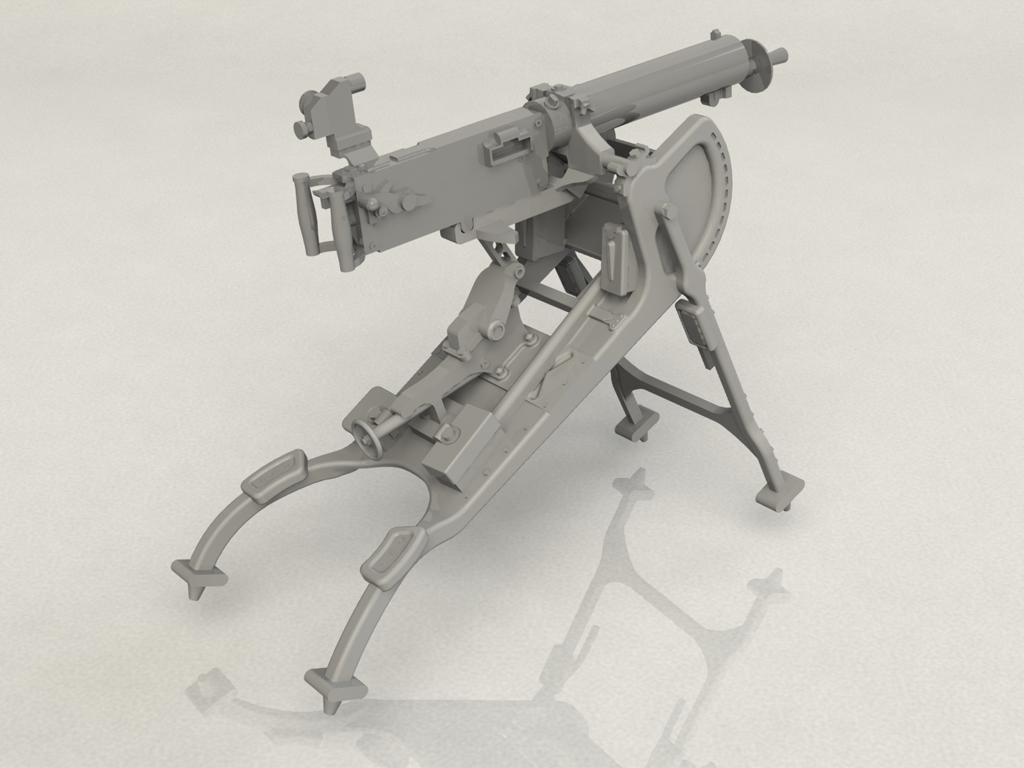 Ametralladora MG08 Alemana (Vista 3)