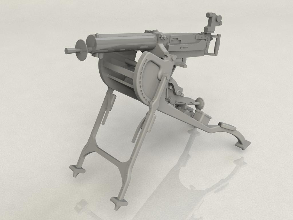 Ametralladora MG08 Alemana (Vista 4)