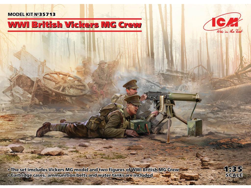 Ametralladora Britanica Vickers y dotacion (Vista 1)