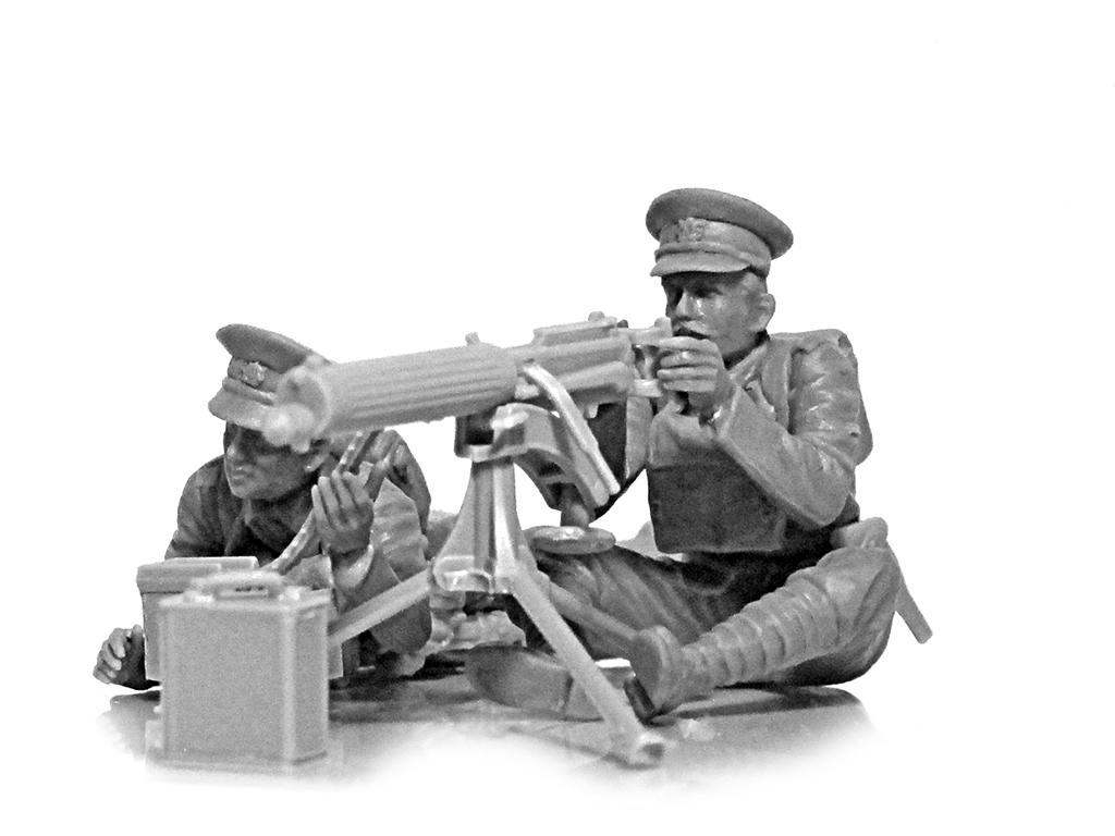 Ametralladora Britanica Vickers y dotacion (Vista 2)