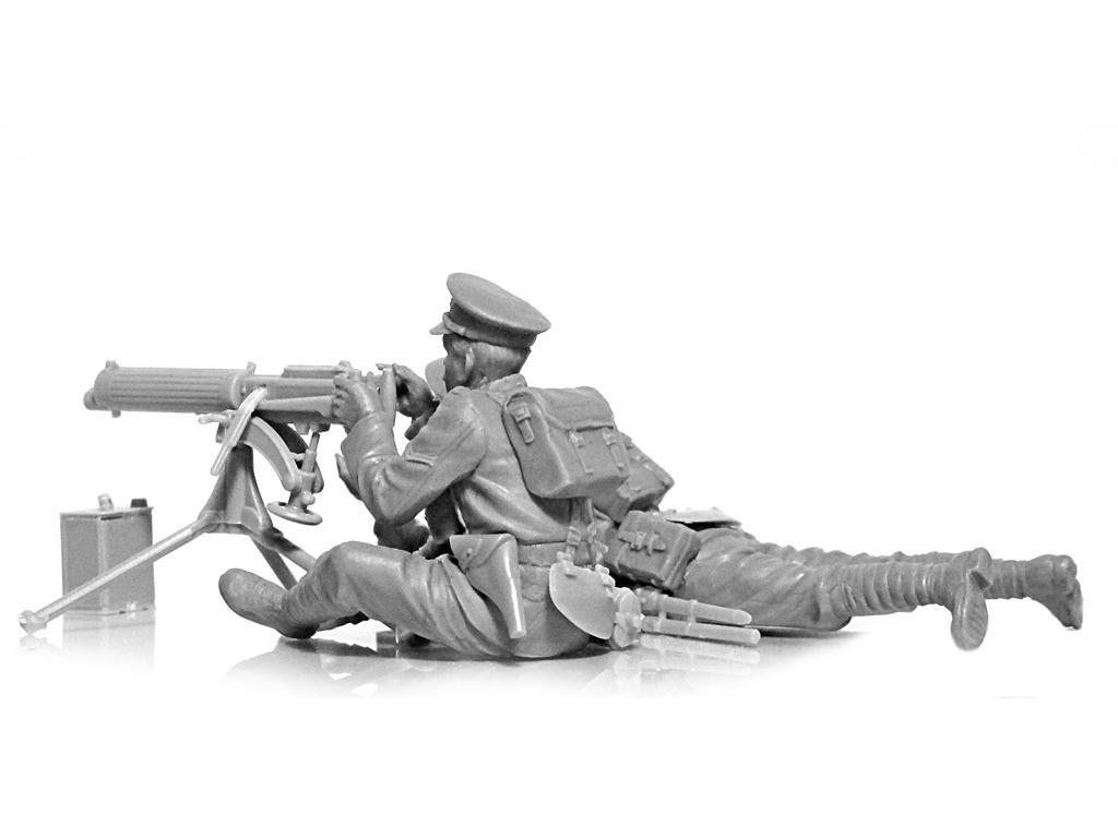 Ametralladora Britanica Vickers y dotacion (Vista 3)