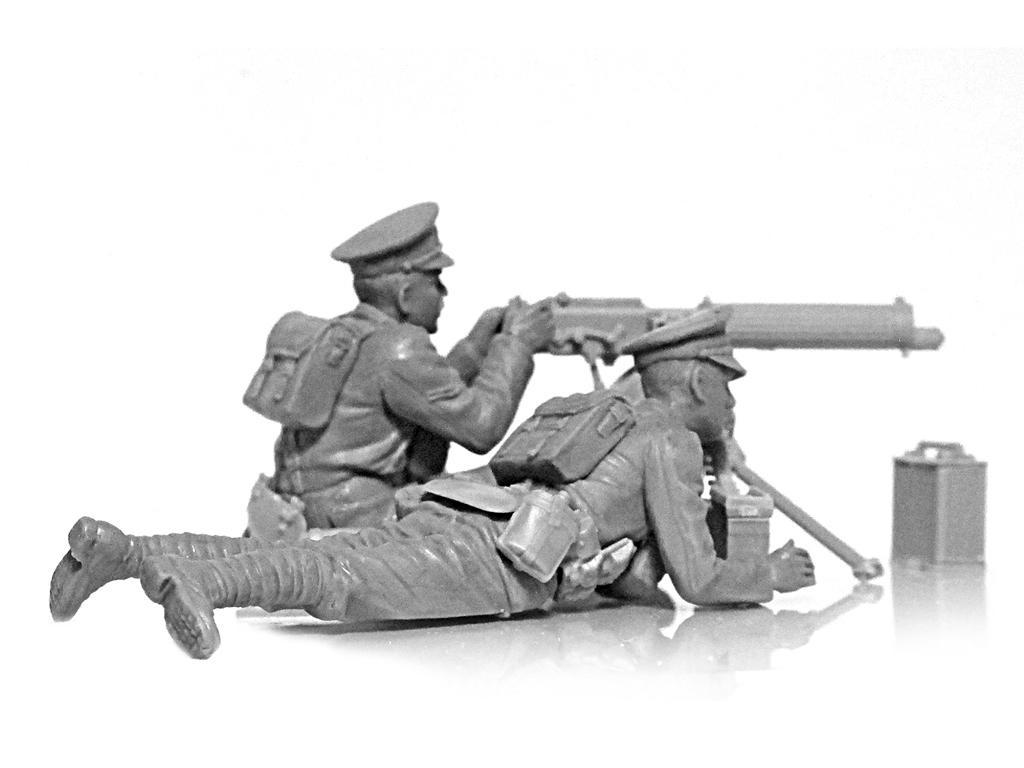 Ametralladora Britanica Vickers y dotacion (Vista 5)