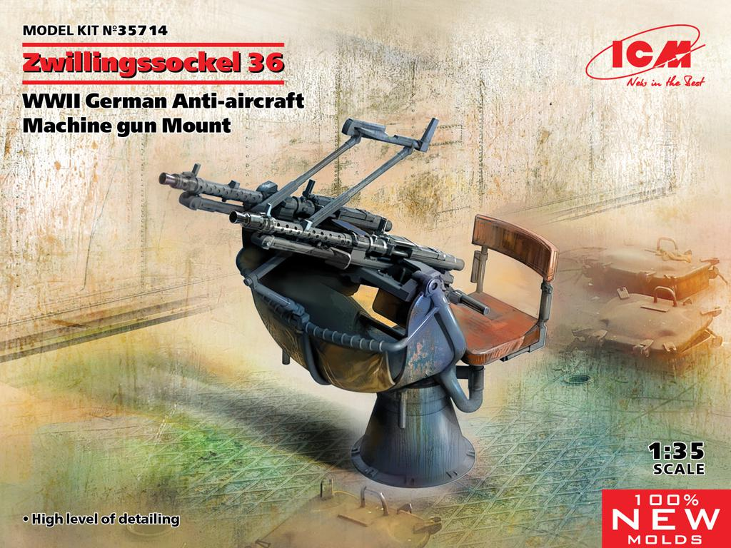 Zwillingssockel 36, cañón antiaéreo alemán (Vista 1)