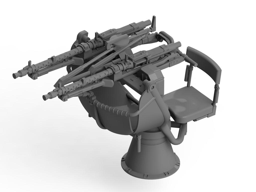 Zwillingssockel 36, cañón antiaéreo alemán (Vista 2)