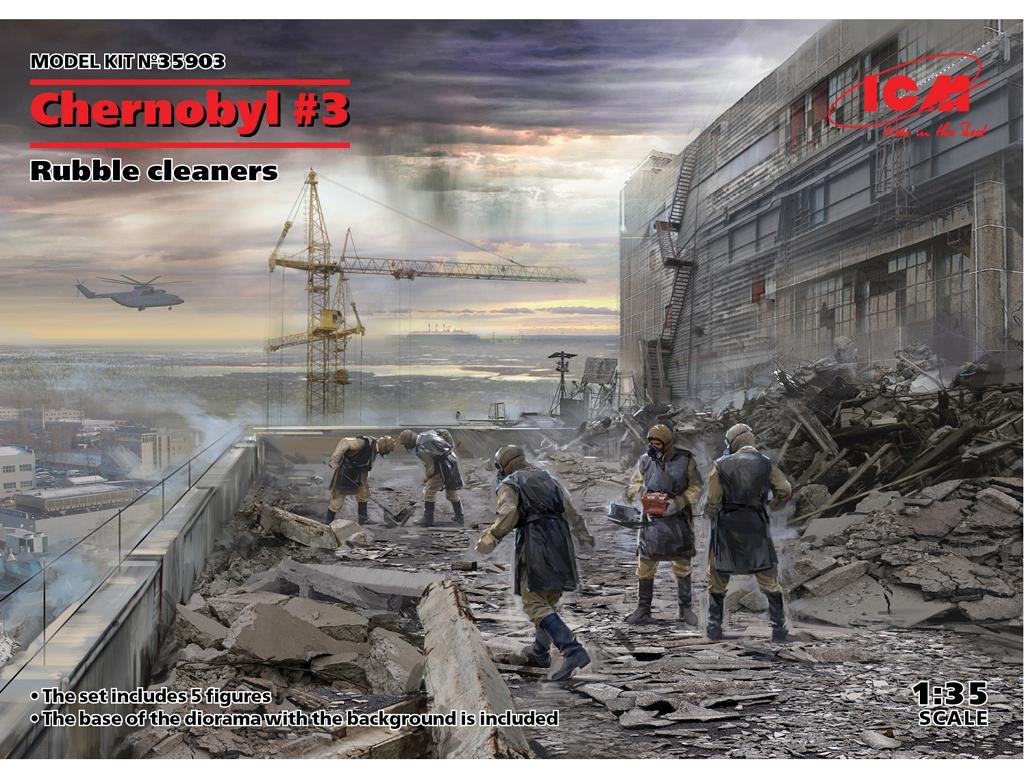 Chernobyl #3. Limpiadores de escombros (Vista 1)