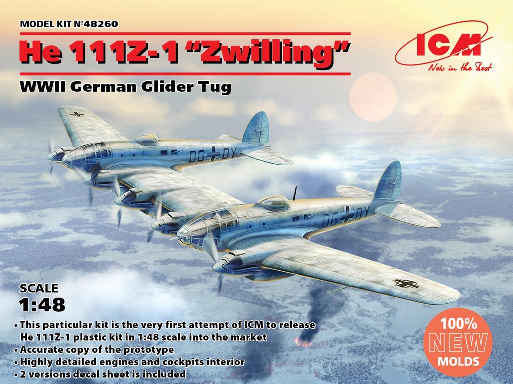 He 111Z-1 Zwilling, WWII German Glider Tug (Vista 1)