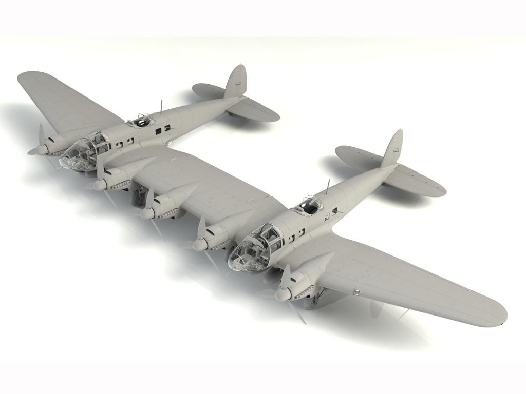 He 111Z-1 Zwilling, WWII German Glider Tug (Vista 3)