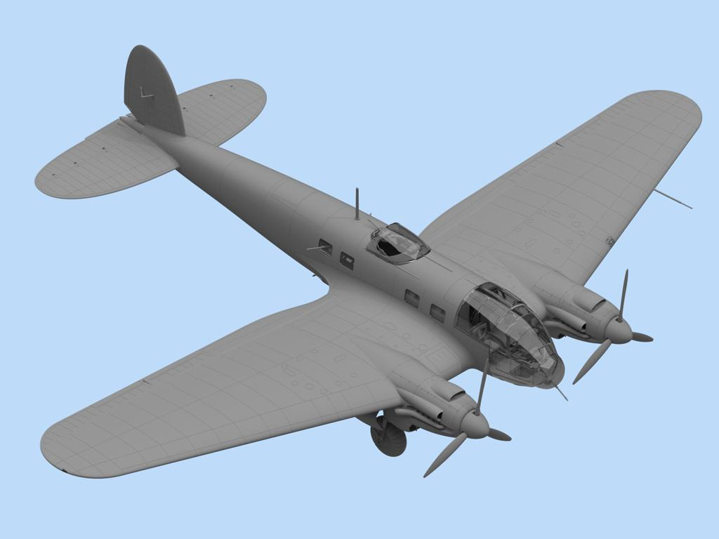 He 111H-3, WWII German Bomber (Vista 4)