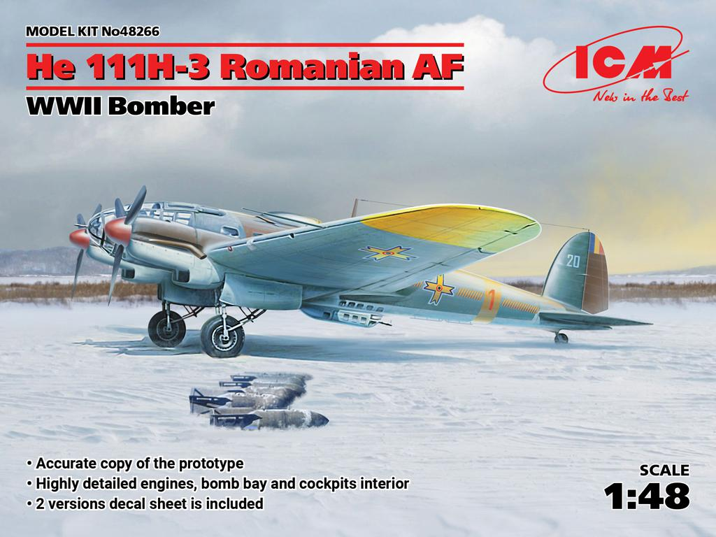 He 111H-3 Romanian AF, WWII Bomber (Vista 1)