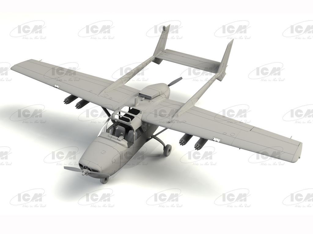 Cessna O-2A Skymaster, American Reconnaissance Aircraft (Vista 3)