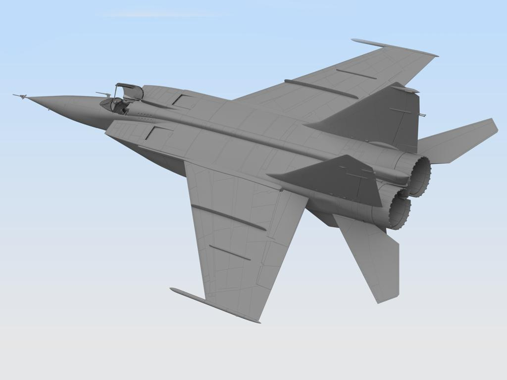 MiG-25 RB, Soviet Reconnaissance Plane (Vista 4)