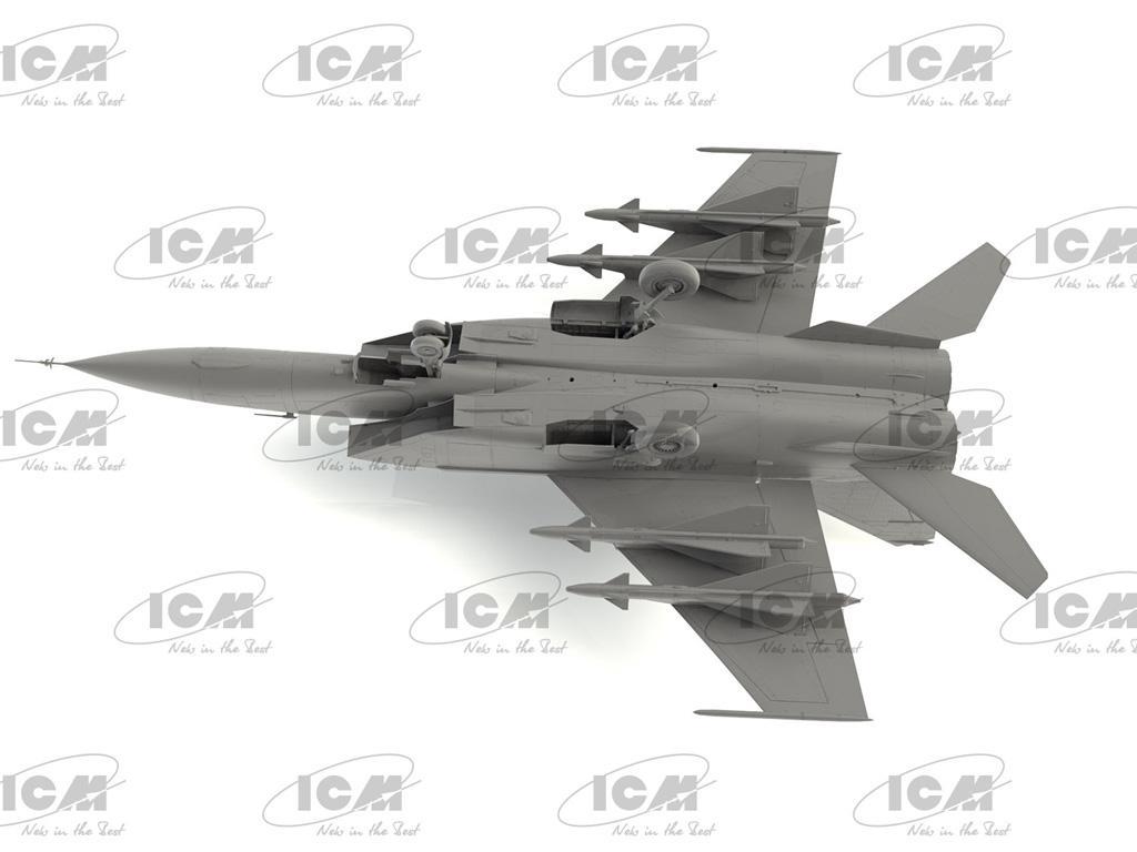 MiG-25PD, Soviet Interceptor Fighter (Vista 7)