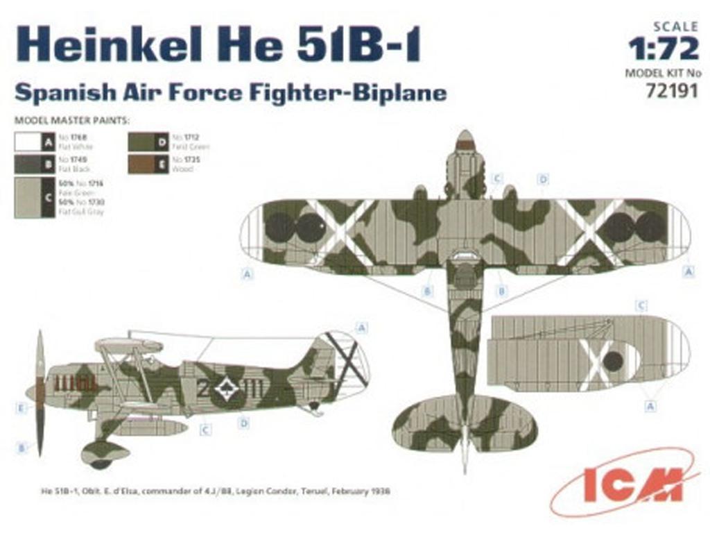 Heinkel HE 51B-1 Guerra Civil Española (Vista 2)