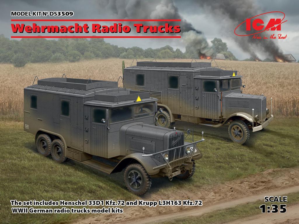Camiones de radio de la Wehrmacht (Vista 1)