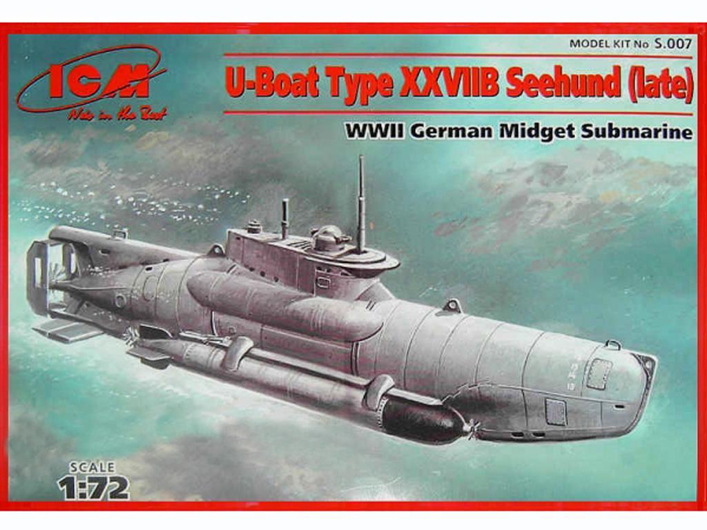 Submarino Alemán tipo XXVII B Seehund final (Vista 1)