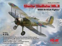 Gloster Gladiator Mk.II, WWII British Fighter (Vista 6)