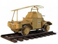 Blindado alemán sobre railes Panzerspähw (Vista 11)
