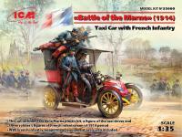Batalla del Marne 1914 Taxi con Infantería Francesa (Vista 10)