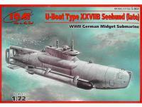 Submarino Alemán tipo XXVII B Seehund final (Vista 2)