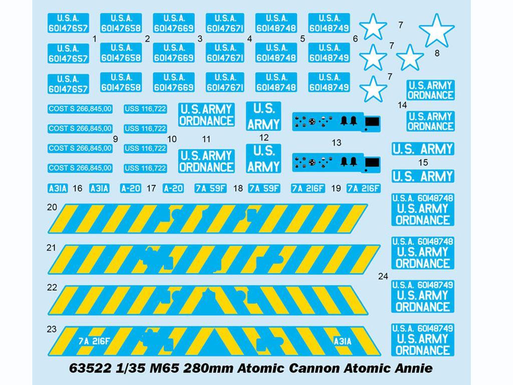 M65 280mm Atomic Cannon Atomic Annie (Vista 3)