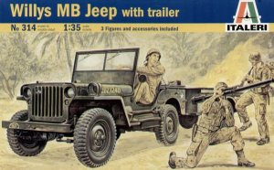 Willis MB Jeep with Trailer - Ref.: ITAL-00314