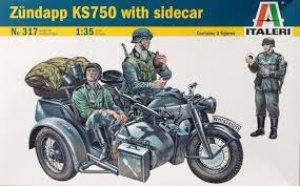 German Motorcicle Zundapp With Sidecar  (Vista 1)