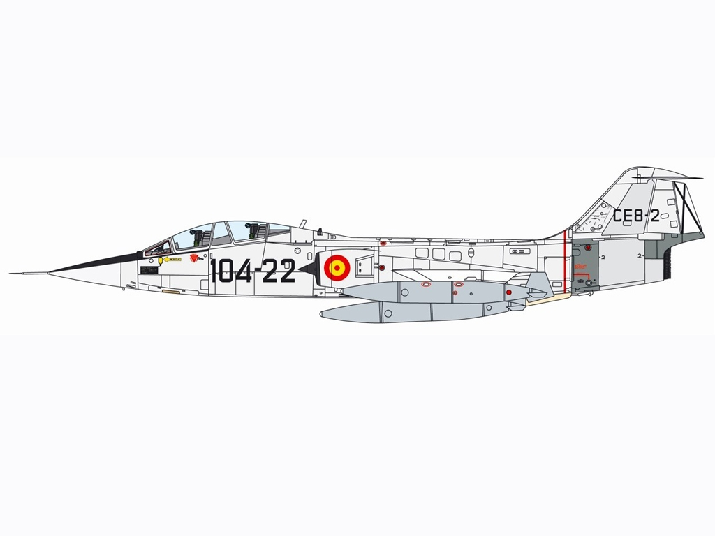 TF-104G Starfighter  (Vista 8)